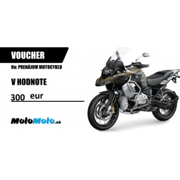 VOUCHER - prenájom motocykla