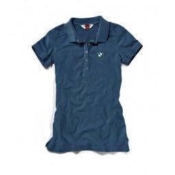 Tričko polo LOGO dámske modré